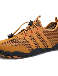 cheap -Men's / Unisex Fall / Spring & Summer Sporty / Casual Daily Outdoor Trainers / Athletic Shoes Hiking Shoes / Upstream Shoes Mesh Breathable Non-slipping Shock Absorbing Black / Brown / Dark Blue