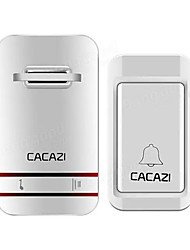 cheap -CACAZI Smart Wireless Self-powered No Batteries Waterproof Doorbell EU/US/UK/AU Plug LED 100-220V 120m Remote 38 Songs