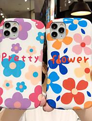 olcso -Case Kompatibilitás Apple iPhone 11 / iPhone 11 Pro / iPhone 11 Pro Max Ütésálló / Állvánnyal Fekete tok Virág TPU