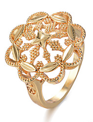 cheap -Ring Gold Gold Plated Statement Stylish Luxury 1pc Adjustable / Women's / Open Cuff Ring / Adjustable Ring