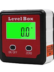 Недорогие -красный прецизионный цифровой измеритель уровня инклинометра с угломером с угловой базой с магнитным основанием