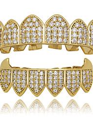 cheap -Teeth Set / Teeth Grills Statement Stylish Luxury Unisex Body Jewelry For Halloween Street Copper Gold White Silver 1 set