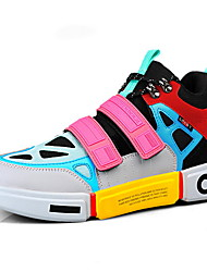 cheap -Women's Trainers / Athletic Shoes Spring / Fall Flat Heel Open Toe Outdoor PU Black / Orange / Rainbow