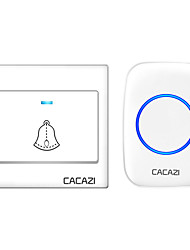 cheap -CACAZI Wireless Home Welcome Doorbell Waterproof 300M Remote US EU UK AU Plug Cordless Door Ring Bell Chime 1  Button 1  Receiver