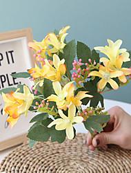 Недорогие -26 см 5 вилки маленький нарцисс свадьба домой дорога украшения декоративный цветок 1 палка