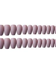cheap -24pcs Plastics False Nails Powder grey and frosted fake nail plate wear finished nail plateArtificial Nail Tips Fake Nails