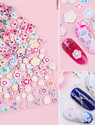 cheap -1 pcs 3D Nail Stickers Hollow Nail Stickers Flower nail art Manicure Pedicure Universal / Water Resistant / Ergonomic Design Romantic / Sweet Party / Evening / Daily / Festival