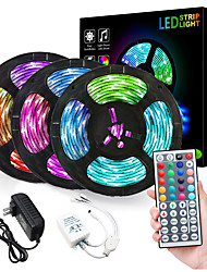 cheap -ZDM® 3x5M LED Strip Lights RGB Tiktok Lights Flexible 900 LEDs 2835 SMD 8mm 1 To 3 Cable Connector with IR 44 Key Double Outlet Controller DC12V