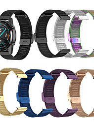 cheap -Watch Band for Huawei Watch GT / Huawei Watch GT2 46mm / Huawei Watch GT 2e Huawei Milanese Loop / Modern Buckle / Business Band Stainless Steel Wrist Strap