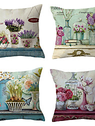 cheap -4 pcs Throw Pillow Simple Classic 45*45 cm Cushion Vintage Circle Cover Sofa Home Decor Throw Pillow Case