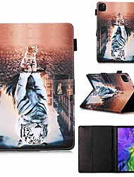 cheap -Case For Apple iPad Pro 11''(2020) / iPad 2019 10.2 / Ipad air3 10.5' 2019 Wallet / Card Holder / with Stand Full Body Cases Cat and Tiger PU Leather / TPU for iPad Air / iPad Air2 / iPad (2018)