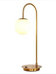 cheap -Nordic Table Lamp Golden Light Luxury Modern Minimalist Living Room Study  Glass Ball Bedroom Bedside Lamp