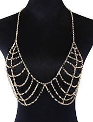 cheap -Body Chain Trendy Women's Body Jewelry For Holiday Beach Alloy Gold