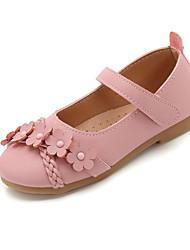 halpa -Tyttöjen Ballerina PU Tasapohjakengät Pikkulapset (4-7 vuotta) / Suuret lapset (7 vuotta +) Kukkakuvio Musta / Pinkki / Beesi Kesä