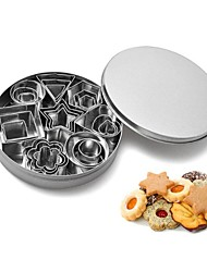 cheap -24pcs/set Stainless Steel Cookie Cutters Star Heart Flower Round Shape Biscuit Molds Fondant Clay Cutters Baking Molds