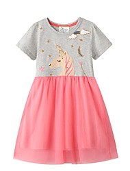 cheap -Kids Little Girls' Dress Cartoon Blushing Pink Dresses