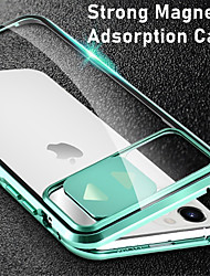 cheap -Phone Case For Apple Full Body Case iPhone 11 iPhone 11 Pro iPhone 11 Pro Max iPhone SE 2020 Mirror Camera Lens Protector Solid Color Tempered Glass Metal
