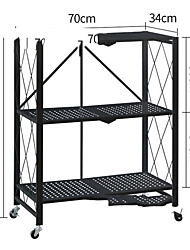 cheap -Household Portable Heavy Duty Storage Shelving Double Post Steel Wire Shelf 13.5 x 27.5 x 34 Inch, Aluminum Black Silver