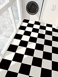 cheap -PVC antiskid twill print black and white paste bathroom bedroom living room DIY floor paste