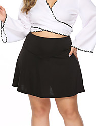 cheap -Women's Basic Mini Skirts Solid Colored