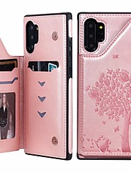 cheap -Case For Samsung Galaxy Note 9 / Note 8 / Samsung Note 10 Card Holder / with Stand / Magnetic Back Cover Cat / Tree PU Leather
