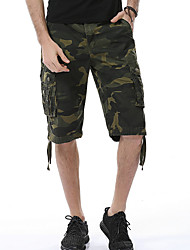cheap -Men's Basic Holiday Loose Cotton Shorts Tactical Cargo Pants - Camouflage Patchwork Print Outdoor Summer Red Army Green Royal Blue US32 / UK32 / EU40 / US34 / UK34 / EU42 / US38 / UK38 / EU46