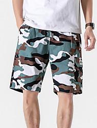 cheap -Men's Basic Daily Holiday Shorts Tactical Cargo Pants - Camouflage Drawstring Army Green Khaki S / US34 / UK34 / EU42 / M / US36 / UK36 / EU44 / L / US38 / UK38 / EU46