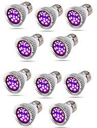 Недорогие -10 шт. E14 из светодиодов растут свет e27 полный спектр светодиодные лампы завод 18 Вт fitolamp ac85-265v красный синий уф ир светодиодные растущие лампы для растений gu10