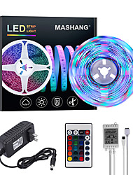 cheap -MASHANG Bright RGBW LED Strip Lights 5M RGBW Tiktok Lights 1170LEDs SMD 2835 with 24 Keys IR Remote Controller and 100-240V Adapter for Home Bedroom Kitchen TV Back Lights DIY Deco