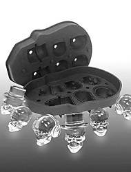 cheap -Skull Ice Maker Mold Bones Ball Tray Cake Candy Tools Kitchen Gadgets 6 Grid 3D Silicone Whiskey Ice Ball Mold