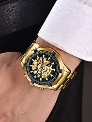 cheap -WLISTH Men's Mechanical Watch Analog Automatic self-winding Geometrical Skeleton Noctilucent Large Dial