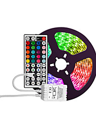 cheap -Waterproof 5M 300 2835 8mm Lights LED Strip Lights RGB Tiktok Lights Flexible and IR 44Key Remote Control Linkable Self-adhesive Color-Changing