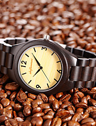 cheap -Men's Dress Watch Quartz Fashion Water Resistant / Waterproof Analog Coffee / One Year / Wood / Japanese / Japanese
