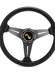 cheap -Gussi Car Boat Steering Wheel Covers M450 Chromed ABS Inserts on Black Urethane Rim