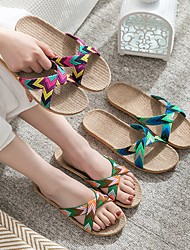 cheap -Women's Slippers & Flip-Flops Summer Flat Heel Open Toe Daily Tissage Volant Purple / Pink / Orange