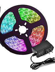 cheap -5m Flexible LED Strip Lights RGB Tiktok Lights 150 LEDs 5050 SMD 10mm Color-changing Waterproof Party 12 V 1pc