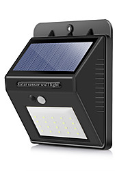 abordables -BRELONG® 1pc 5 W Luz de pared solar Impermeable / Alimentado por Energía Solar / Sensor de infrarrojos Blanco Fresco 3.7 V Iluminación Exterior / Patio / Jardín 20 Cuentas LED