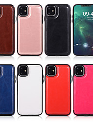 cheap -Case For Apple iPhone 7/8/7P/8P/X/XS/XR/XS Max/11/11 Pro/11 Pro Max/SE 2020   Card Holder / Shockproof / Flip Full Body Cases Solid Colored PU Leather / TPU