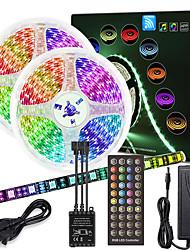 cheap -10M(2x5M) High-Quality Black PCB Music Timing Synchronous Control Flexible Light Bar 600 x 5050 Waterproof RGB LED Strip Light and IR 40 Key Controller with12V 6A Adapter Kit