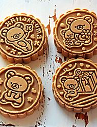 Недорогие -50 грамм стерео роза цветок автомобиль логотип мультфильм торт плесень diy выпечки кондитерские инструменты кухня формы для выпечки ручной пресс пластиковые круглые луна торт плесень