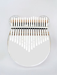 cheap -Kalimba Finger Mbira Sanza Thumb Piano 17 Key Arylic Crystal Portable Musical Instrument Best Gift for Kids and Beginners