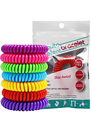 cheap -20pcs Mosquito Repellent Bracelets Mosquito Repellent Wristbands Portable Non Toxic For Home Traveling Indoor Outdoor Adults Kids Teenager Baby