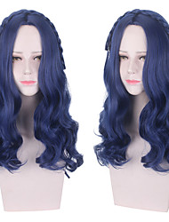 cheap -Descendants Evie Cosplay Wigs Women's Braid 23 inch Heat Resistant Fiber Curly Plaited Blue Adults' Anime Wig