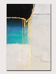 cheap -Oil Painting Hand Painted Vertical Abstract Pop Art Modern Rolled Canvas (No Frame)
