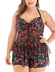 cheap -Women's One Piece Swimsuit Fruit Red Swimwear Bathing Suits