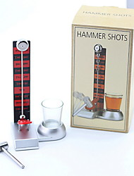 cheap -Drink Game Hammer Shots Glassware 1 Classic Glass 1 Hammer 1 Shot Board