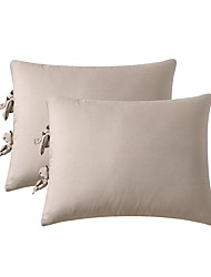 cheap -Solid Color Bed Pillow Cover/Shams Set of 2/Two Size Without Insert (2 Pack Pillowcase)