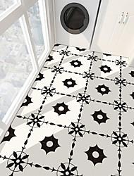 cheap -PVC antiskid twill black and white series floor stickers for bathroom bedroom living room DIY floor stickers 4Pcs 30*30cm