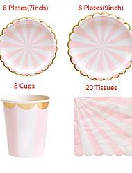 economico -piatti colorati usa e getta tazze tazze di alta qualità bagassa usa e getta naturale ecologica fatta di carta 1 set (include 16 piatti& 8 tazze& 20 tessuti)