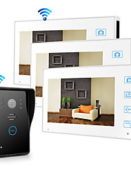cheap -Wireless 2.4GHz 7 inch Hands-free 800*480 Pixel with PIR Motion Detect video doorphone